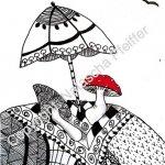 Pilze mit Schirm